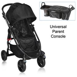 Baby Jogger BJ21210 City Versa Stroller in Black With Parent Console