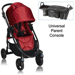Baby Jogger BJ21230 City Versa Stroller in Red With Parent Console