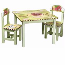Guidecraft 83562 Little Farmhouse Table & Chairs