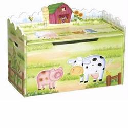 Guidecraft 83564 Little Farmhouse Toy Box