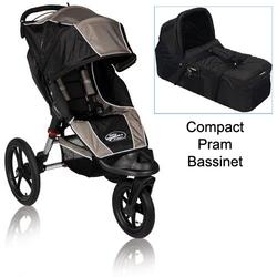 Baby Jogger BJ80635 Summit XC Single Jogging Stroller in Sand/Blk w/Blk Bassinet