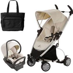 Quinny Zapp Xtra Folding Seat Stroller Travel System w Diaper Bag - Natural Mavis