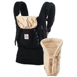 Ergo Baby BCII6CANL, Bundle of Joy Original Carrier and Insert - Black/Camel