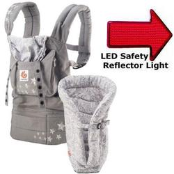 Ergo Baby BCII2EPNL, Bundle of Joy Original Carrier and Insert in Galaxy Grey with LED Safety Reflector Light