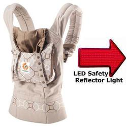Ergo Baby BC02522ONL, Organic Baby Carrier in Lattice with LED Safety Reflector Light