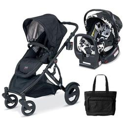 Britax U281797, B-Ready Stroller and Chaperone Infant Carrier with Diaper Bag - Cowmooflage/Eclipse