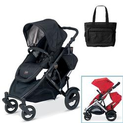 Britax U281797, B-Ready Stroller and 2nd Stroller Seat with Diaper Bag - Eclipse