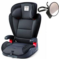 Peg Perego VIAGGIO HBB 120 Car Seat - Crystal Black w/ Back Seat Mirror
