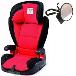 Peg Perego VIAGGIO HBB 120 Car Seat - Crystal Red w/ Back Seat Mirror