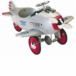 Airflow Collectibles 2001CS Silver Pursuit Plane