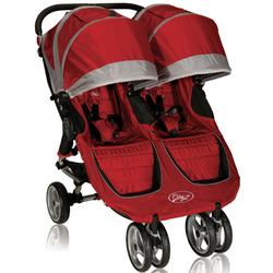 Baby Jogger 12236 City Mini Double Stroller, Crimson-Gray