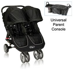 Baby Jogger 12210 City Mini Double Stroller in Black-Gray with Parent Console