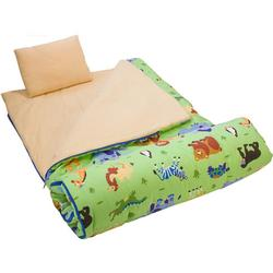 Wildkin 17080 Olive Kids Wild Animals Sleeping Bag