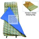 Wildkin 28013 Horses in Green Nap Mat