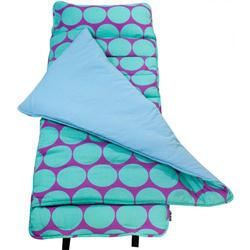 Wildkin 28119 Big Dots Aqua Nap Mat