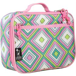 Wildkin 33115 Pink Retro Lunch Box