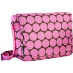 Wildkin 38085 Big Dots Pink Laptop Messenger Bag