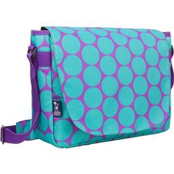 Wildkin 38119 Big Dots Aqua Laptop Messenger Bag
