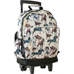 Wildkin 44025 Horse Dreams High Roller Rolling Backpack