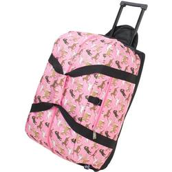 Wildkin 51020 Horses in Pink Good Times Rolling Duffel Bag