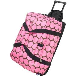 Wildkin 51085 Big Dots Pink Good Times Rolling Duffel Bag
