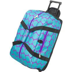 Wildkin 51119 Big Dots Aqua Good Times Rolling Duffel Bag