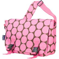 Wildkin 54085 Big Dots Pink Jumpstart Messenger Bag