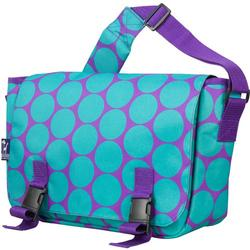 Wildkin 54119 Big Dots Aqua Jumpstart Messenger Bag