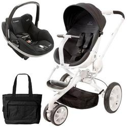 Quinny CV078BIK Moodd Prezi Travel system w/Diaper bag and car seat - Black Irony