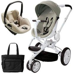 Quinny CV078BFV Moodd Prezi Travel system with Diaper bag and car seat - Natural Bright