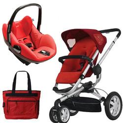 Quinny CV155RLR Buzz 3/Prezi Travel System in Rebel Red with Diaper Bag