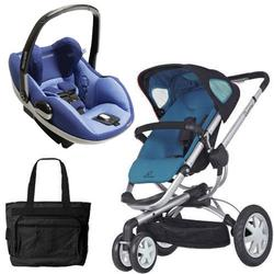 Quinny CV155BFW Buzz 3/Prezi Travel System in Blue Scratch with Diaper Bag