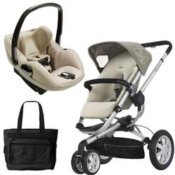 Quinny CV155BFY Buzz 3/Prezi Travel System in Natural Mavis with Diaper Bag