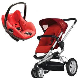 Quinny CV155RLR Buzz 3 Stroller with Prezi Car Seat in Rebel Red