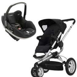 Quinny CV155RKB Buzz 3 Stroller with Prezi Car Seat in Rocking Black