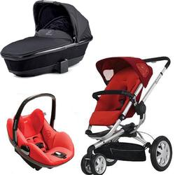 Quinny CV155RLR Buzz 3 w/Black Bassinet & Maxi-Cosi Prezi Car Seat - Rebel Red