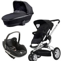 Quinny CV155RKB Buzz 3 w/Dreami Bassinet & Maxi-Cosi Prezi Car Seat - Rocking Black