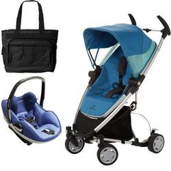 Quinny CV080BFW Zapp Xtra Travel system with diaper bag and Prezi car seat - Blue Scratch