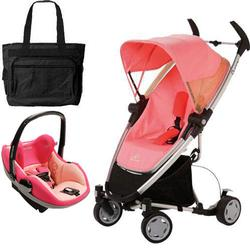 Quinny CV080BFX Zapp Xtra Travel system with diaper bag and Prezi car seat - Pink Blush