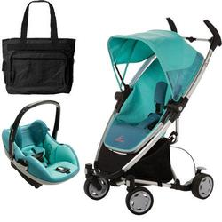 Quinny CV080BFZ Zapp Xtra Travel system with diaper bag and Prezi car seat - Fading Green
