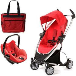 Quinny CV217RLR Zapp Xtra Travel system with diaper bag and Prezi car seat - Rebel Red