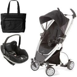 Quinny CV217RKB Zapp Xtra Travel system with diaper bag and Prezi car seat - Rocking Black