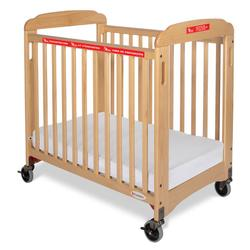 Foundations 1932047 First Responder Evacuation Crib Fixed-Side, Clearview, includes evacuation frame - Natural