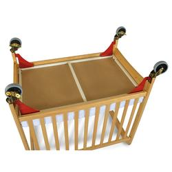 Foundations 1962077 First Responder Evacuation Frame w/antique brass casters for natural cribs
