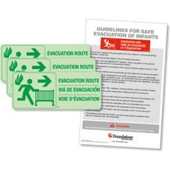 Foundations 1963006 First Responder Evacuation Route Sign Kit (3 signs w/ Protocol)