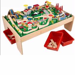 KidKraft 17850 Mountain Train Set, 120 pcs, with 3 Bins and Table
