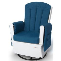 Foundations 4303126 SafeRocker SS Swivel Glider - White/Blue