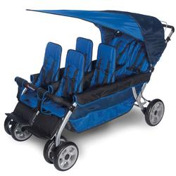 Foundations 4160037 The LX6 6-Passenger Stroller - Blue