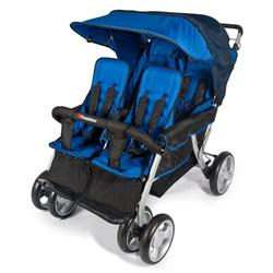 Foundations 4140037 The LX4 4-Passenger Stroller - Blue