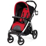 Peg Perego IPBO28NA34FT13MJ49 Book Stroller - Flamenco-Cherry Red/Black